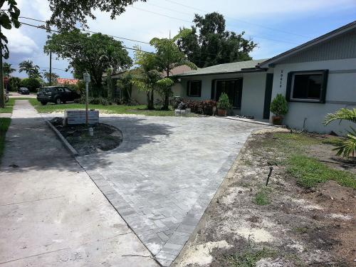 4x8 drive way after